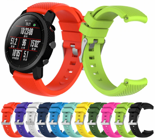 correas silicona colores amazfit stratos