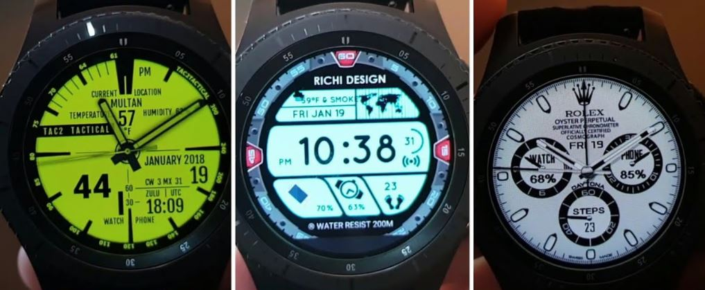 galaxy watch diferentes faces